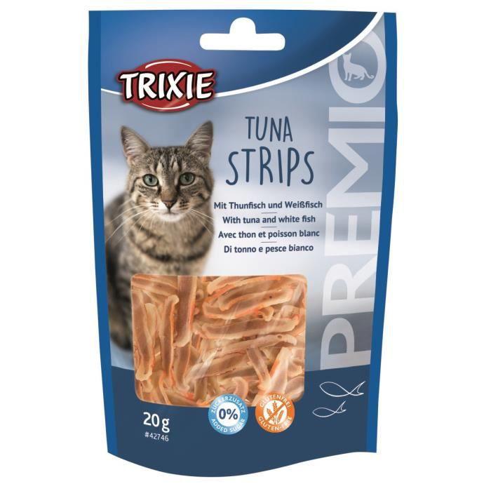 TRIXIE Friandise Premio Tuna Strips au thon blanc - 20 g