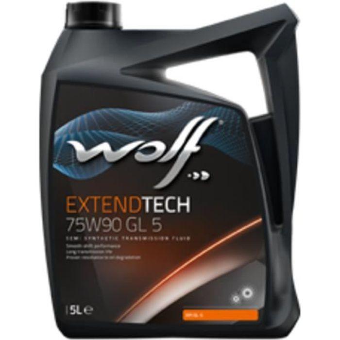 Bidon Extendtech 75W90 GL 5 5L Wolf 8303500