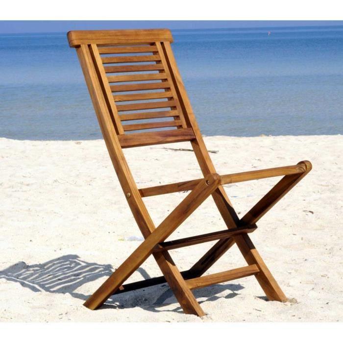 chaise de jardin en teck huile - chaise pliante