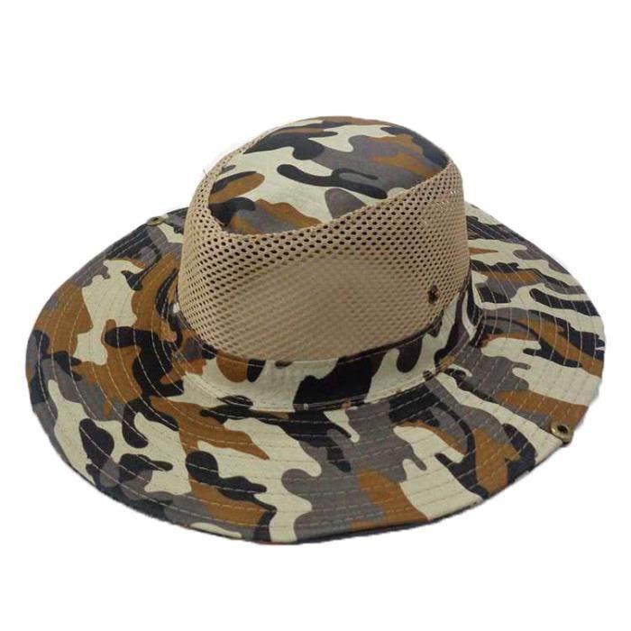 Coffee with mesh -Casquette de Camouflage tactique Boonie, chapeaux militaires, casquettes d'armée, chasse en plein air, randonnée,
