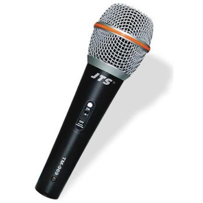 microphone micro noir dynamique pour voix chant karaoke. Black Bedroom Furniture Sets. Home Design Ideas