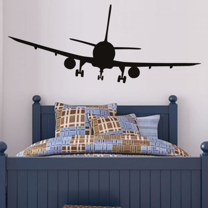Vinyle amovible commerciale avion sticker mural maison for Chambre commerciale