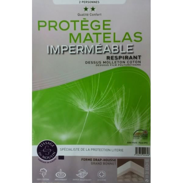 Prot ge matelas imperm able anti acariens forme drap - Protege matelas impermeable respirant ...