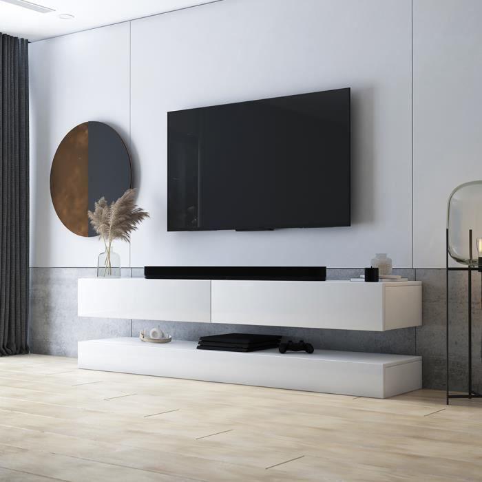MEUBLE TV Meuble TV / Meuble de salon - AVIATOR - 140 cm - b