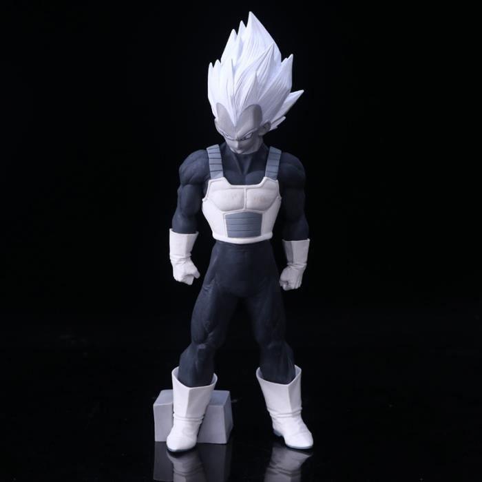 Anime Dragon Ball Figurine Smsp Vegeta Noir Et Blanc Modèle
