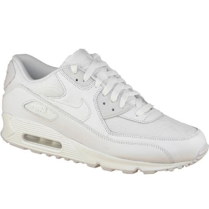 NIKE AIR MAX 90 ESSENTIAL... Blanc - Cdiscount Chaussures