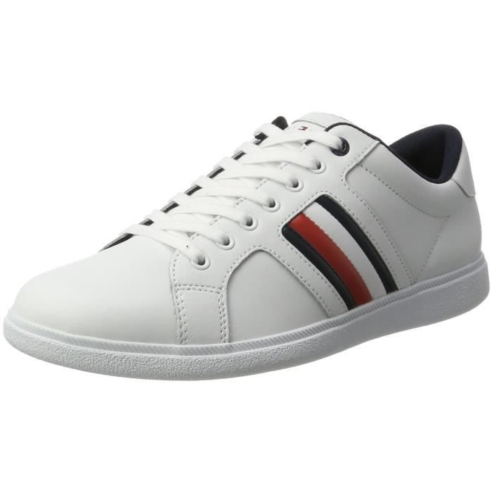 D2285Anny 3A, Baskets Basses Homme, Blanc (White), 44 EUTommy Hilfiger
