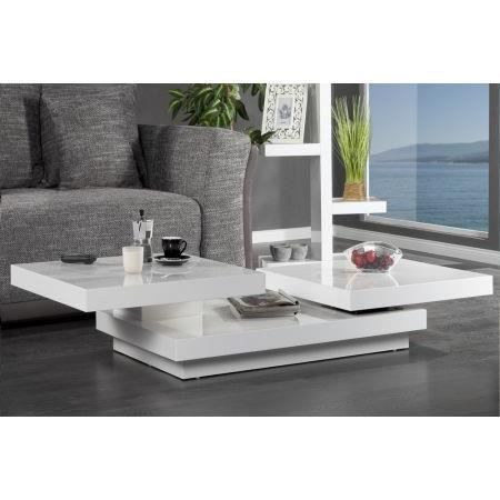table basse design triple rectangle l blanc hig achat. Black Bedroom Furniture Sets. Home Design Ideas