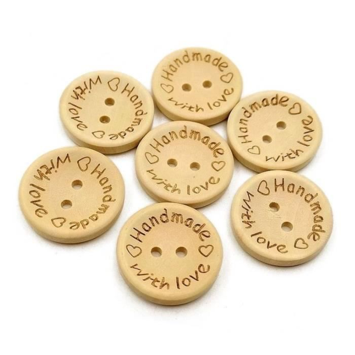 10 pièces Boutons Bouton blanc-rouge 11 mm 2-trou article neuf