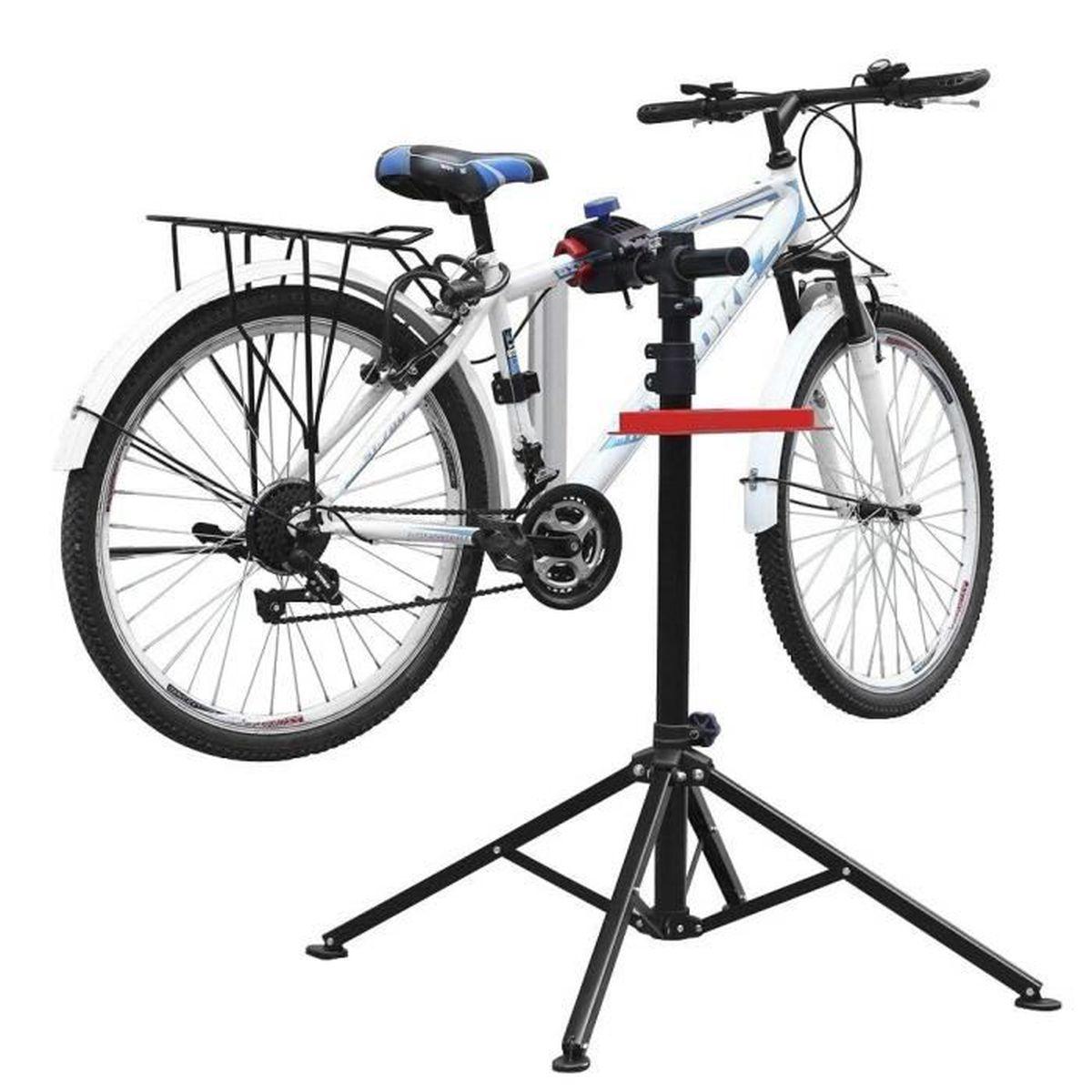 Pied d'atelier pour vélos pivotant 360° 50kg Support de montage Stand réparation