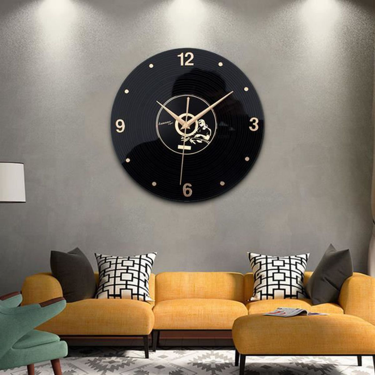meilleur de deco chambre adulte avec horloge murale retro. Black Bedroom Furniture Sets. Home Design Ideas