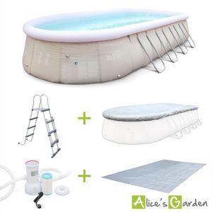 PISCINE Kit piscine géante complet, Saphir gonflable 26m2