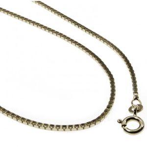 """0.85 mm solide réglable chaîne serpent Collier Véritable 14K Or Blanc Jusqu/'à 22/"""" 3.6 g"""