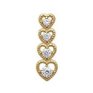 Femme élégant Love Coeur 18K plaqué or brillant autrichienne Crystal Bangle Bracelet