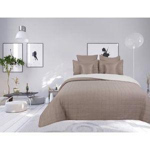 matelass/é couvre-lit 3 pi/èces 180x220 double face Couvre-lit r/éversible 2 taies doreiller couverture de lit Tavira Bleu Blanc