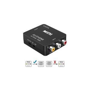 REPARTITEUR TV Adaptateur RCA vers HDMI,Mini AV vers HDMI convert
