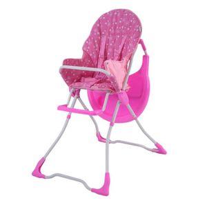 CHAISE HAUTE  COSTWAY Chaise Haute Bébé Pliable pour Enfants Gra