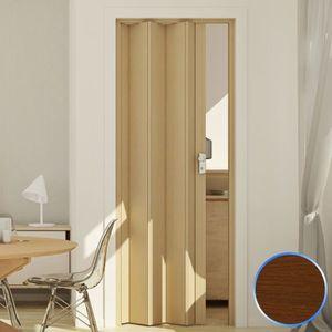CABINE DE DOUCHE Porte pliante pvc accordèon coulissante bois foncé