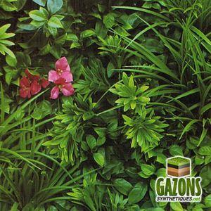 HAIE DE JARDIN Mur Végétal Artificiel Amazone   1m x 1m