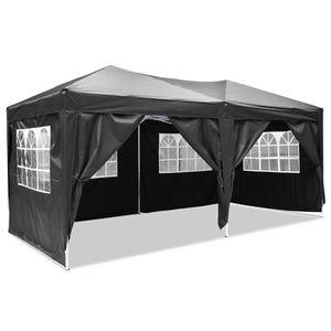 TENTE DE CAMPING Tente 3 x 6m pliante  noir