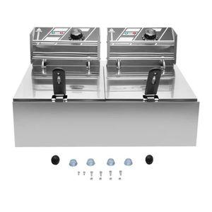 FRITEUSE ELECTRIQUE Friteuse électrique Double Réservoir 10L avec pani