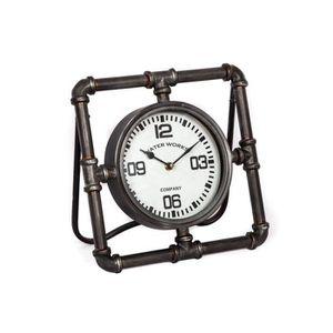 HORLOGE - PENDULE Horloge de Comptoir Style Loft Industriel Pendule