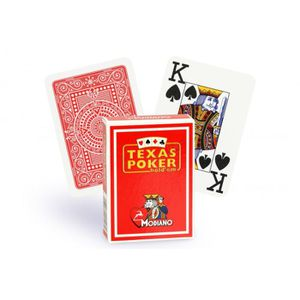 CARTES DE JEU Cartes Texas Poker 100% plastique (rouge)