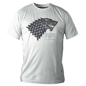 T-SHIRT GAME OF THRONES T-shirt Winter is coming Blanc Hom