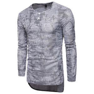 T-SHIRT Tee Shirt Homme Imprimée T Shirt Manche Longue Hen
