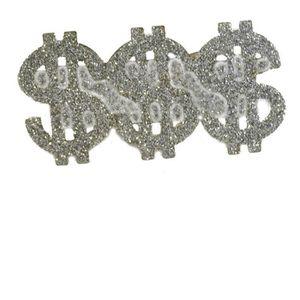 Smiffys Bague de rappeur motif 3 dollars argent