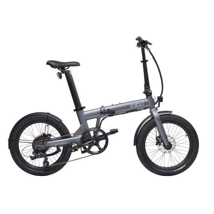 Vélo à assistance électrique Confort pliant 20- - Gris