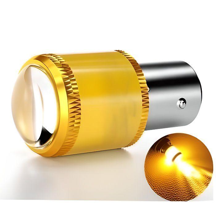 Ampoule BAU15S LED ORANGE PY21W pour Voiture Canbus Clignotants