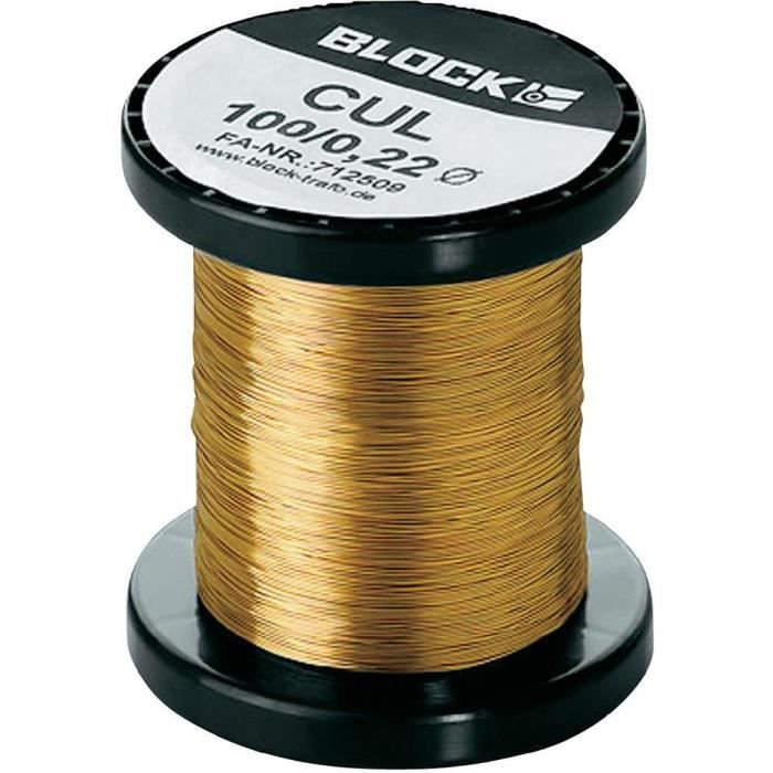 Bobine de fil de cuivre Ø 1.00 mm 2,8 A Block C…