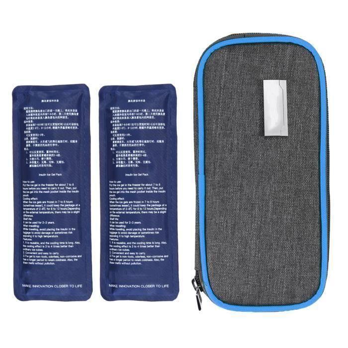 Emballage inclus: 1 x sac isotherme à l'insuline 2 x packs de glace Description du produit -Name: réfrigérateur de médecine de sa