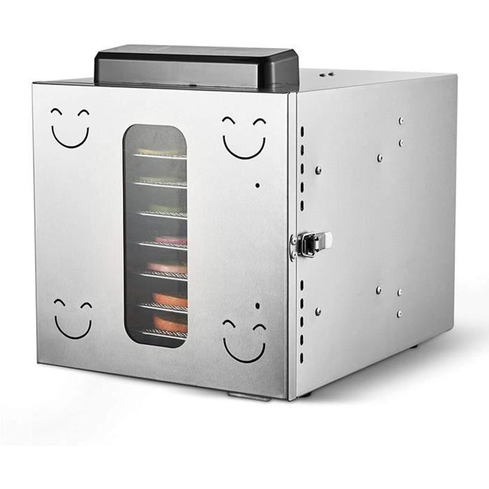 DESHYDRATEUR Champignons et Tous les Aliments Deshydrateur, 35- ℃, bo&icirctier de commande d&eacut tachable, minuterie 12 heu305