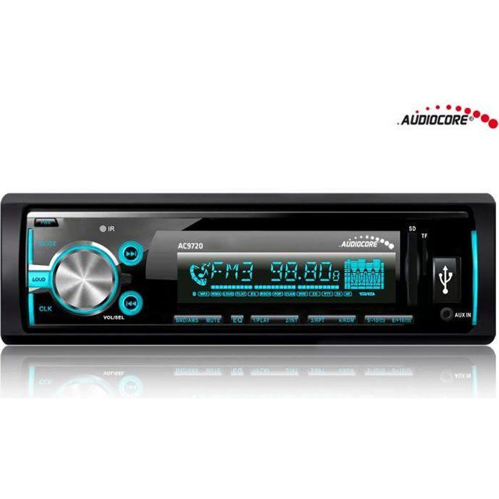 Autoradio BLUETOOTH mains libres MP3/WMA/USB/RDS/SD Audiocore AC9720