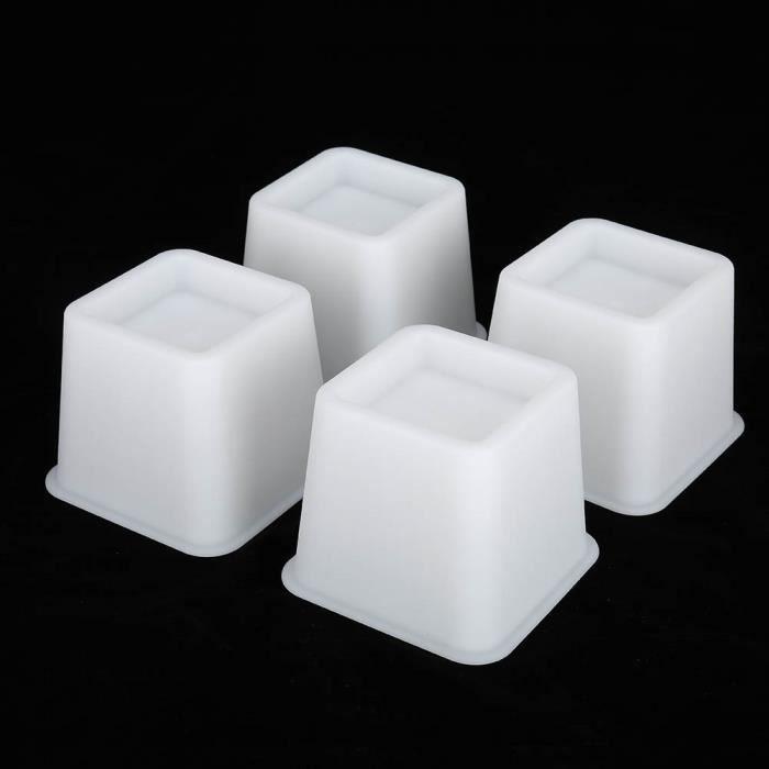 4pcs Elevateur Réhausseur DE MEUBLE CHAISE Pied Riser Jambe de meubles de Lit Tableau Bureau Canapé sofa Accessoires de Funiture