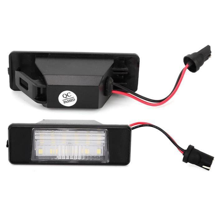Fdit Éclairage d'immatriculation 2 pièces voiture SMD 18 LED lumière de plaque d'immatriculation adaptée pour Pathfinder R51 02
