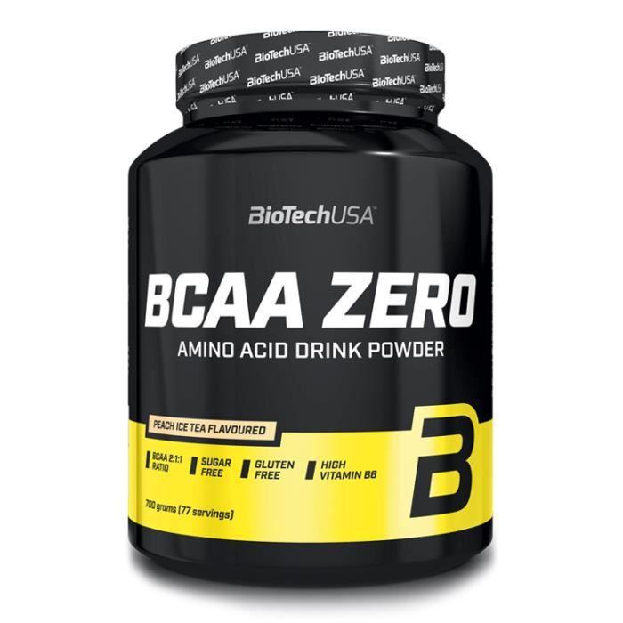 BCAA Zero 700g Ice Tea Peche Biotech USA