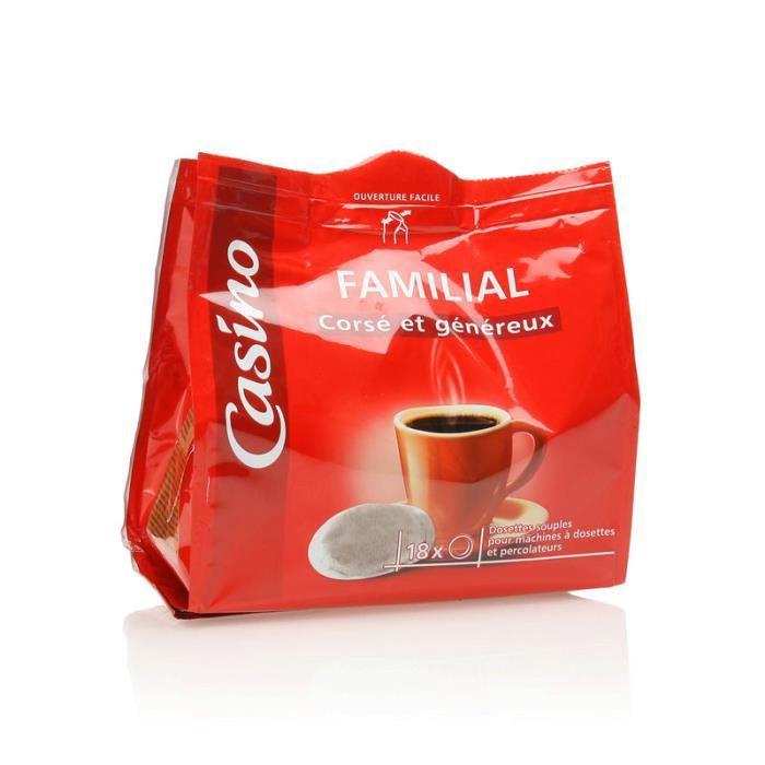 Dosettes café corsé et généreux - 125 g