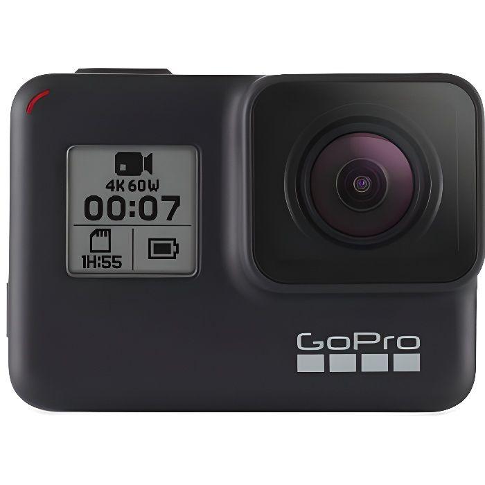 GoPro HERO7 Black - Caméra numérique embarquée étanche avec écran tactile, vidéo HD 4K, photos 12 MP, diffusion en direct et