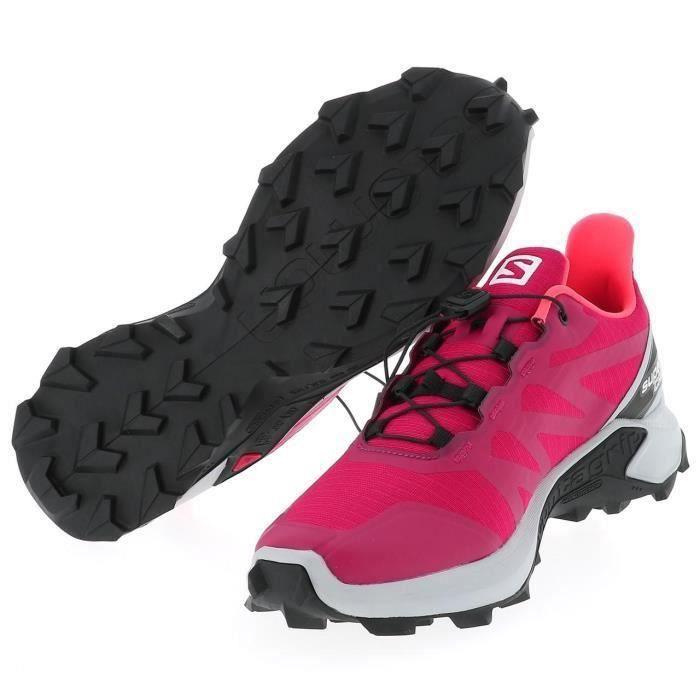 Chaussures running trail Supercross cerise run l - Salomon