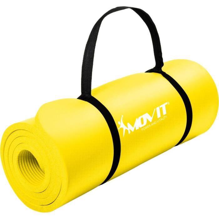MOVIT Tapis de gymnastique 183cm x 60cm x 1,0cm, Jaune