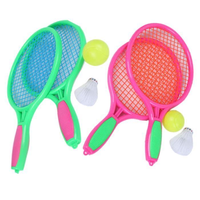 4 pièces / 2 ensembles de raquette de Tennis forme Unique raquettes de Badminton de haute RAQUETTE DE TENNIS - CADRE DE TENNIS