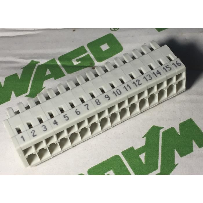 connecteur industriel wago 734-116-000-047 connecteur femelle à 1 conducteur - 16 pôles - 100% protégé contre le mismating