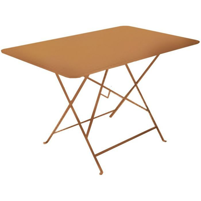 Table de jardin pliante en m tal citadyne 110x70cm achat for Table en fer exterieur
