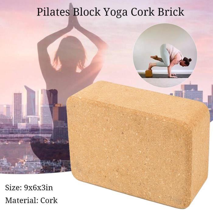 Exercices de Pilates Sunnysam Lot de 2 Blocs de Yoga pour la Maison et la Salle de Gym Fitness Briques de Yoga et Surface antid/érapante Fitness