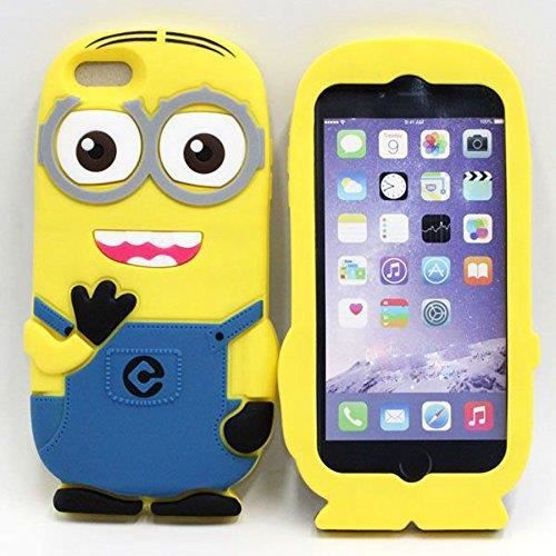 coque etui housse minions mignon iphone 6 6s achat coque. Black Bedroom Furniture Sets. Home Design Ideas