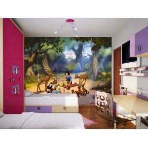 fresque murale disney princess blanche neige et les. Black Bedroom Furniture Sets. Home Design Ideas