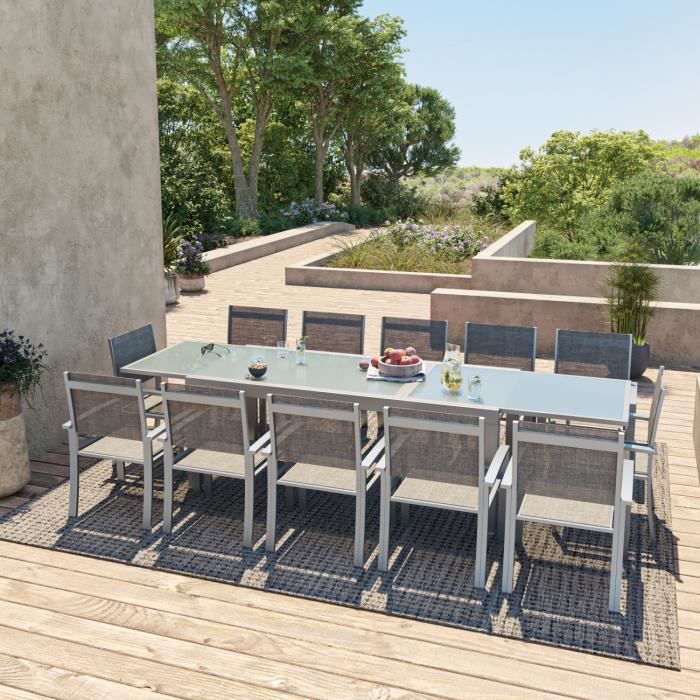 HARA XXL - Table de jardin extensible aluminium 200/320cm + ...